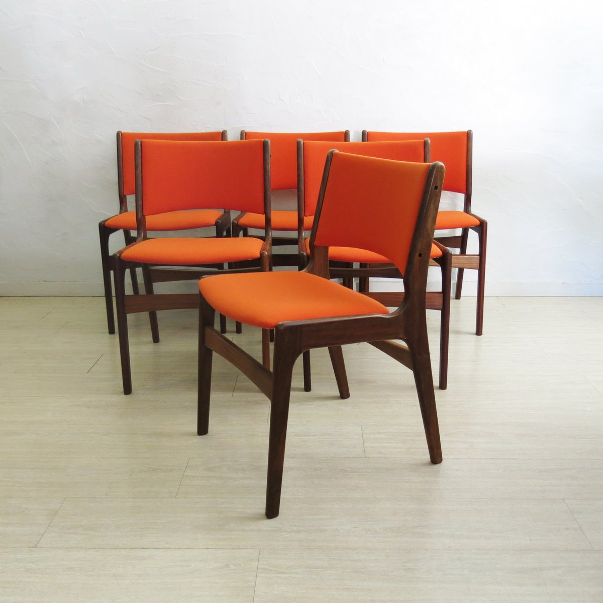 Dining Chairs Set Of 6 Mid Century Teak Dining Chairs From Anderstrup 1960s Set