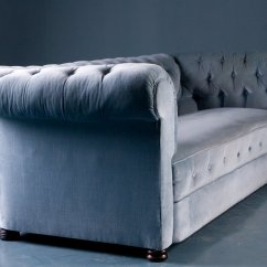 Velvet Chesterfield Sofa Prices Imported Sets From China Antique Style In Blue 1900s For