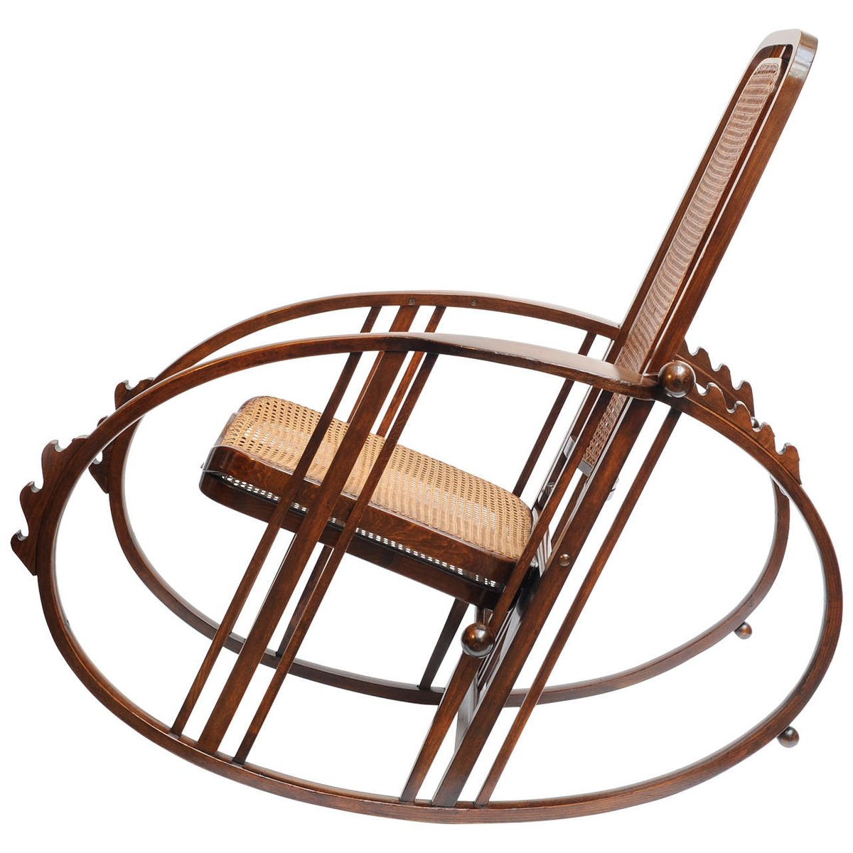 rocking chair footrest cheap chiavari chairs vintage with by antonio volpe for