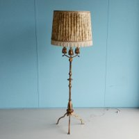 Gilt Metal Floor Lamp with Faux Candles, 1960s for sale at ...