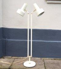 Mid-Century Danish Telescopic Dual Floor Lamp from Vitrika ...