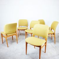 Mid-Century Scandinavian Chairs, Set of 6 for sale at Pamono