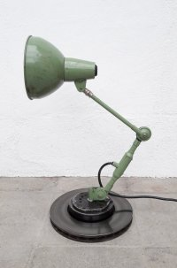 Vintage Industrial Green Desk Lamp for sale at Pamono