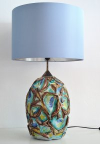 Italian Ceramic Table Lamp, 1960s for sale at Pamono