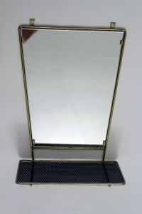 Vintage Wall Mirror with Shelf for sale at Pamono