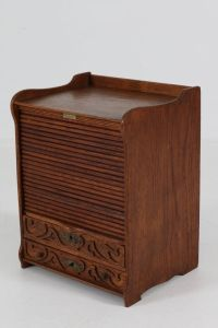 Miniature Art Nouveau Oak Filing Cabinet from G.Nepper ...