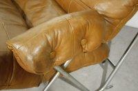 Mid-Century Cognac Leather & Tubular Chrome Lounge Chair ...