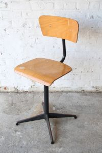 Vintage Industrial Swivel Desk Chair, 1970s for sale at Pamono
