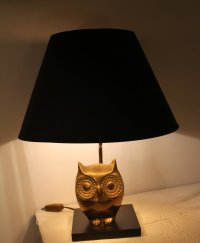 Owl Table Lamp, 1970s for sale at Pamono