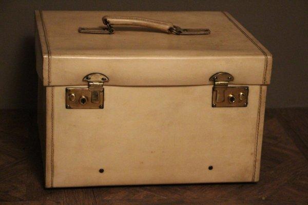 Small Beige Vellum Steamer Trunk 1920s Pamono