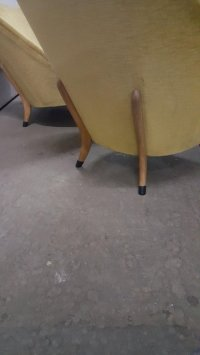 Mid-Century Velvet Sofa & Easy Chairs, Set of 3 for sale ...