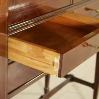 Mid-Century Cabinet in Rosewood Veneer, Glass & Mirror for ...