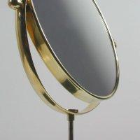 Mid-Century Italian Marble and Brass Table Mirror, 1950s ...