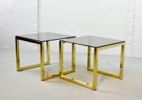 Mid-Century Hollywood Regency Cubic Side Tables with ...