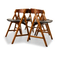 Vintage Wooden Dining Chairs by Henning Kjaernulf for ...