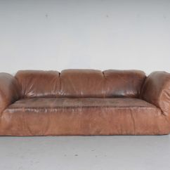 Sofa For Van Singapore Air Mattress Bed Vintage Brown Leather By Gerard Den Berg ...