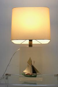Vintage Table Lamp in Lucite for sale at Pamono