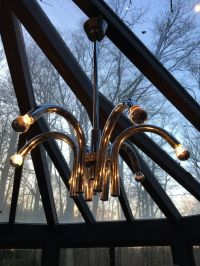 Chrome Chandelier, 1970s for sale at Pamono