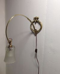 Vintage French Art Nouveau Wall Lamp for sale at Pamono