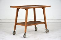 Mid-Century Modern Wood Bar Cart for sale at Pamono
