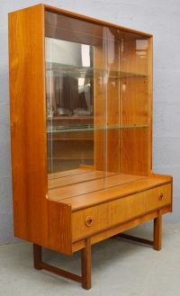 Mid-Century Teak and Glass Display Cabinet from Turnidge ...