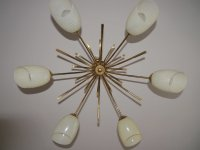 Mid-Century Sputnik Spider Lamp with Striped Glass Shades ...