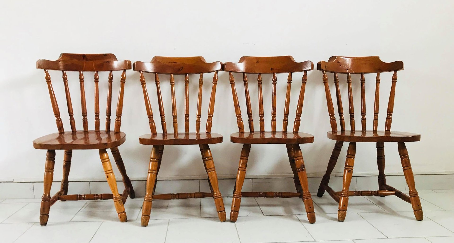 Set Of 4 Kitchen Chairs Rustic Kitchen Chairs 1930s Set Of 4 For Sale At Pamono