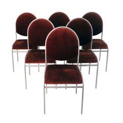 Chrome Dining Chairs Australia Bedroom Desk Chair Uk Vintage By Renato Zevi Set Of 6 For