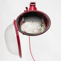 Industrial Red Wall Lamp with Adjustable Arm for sale at ...