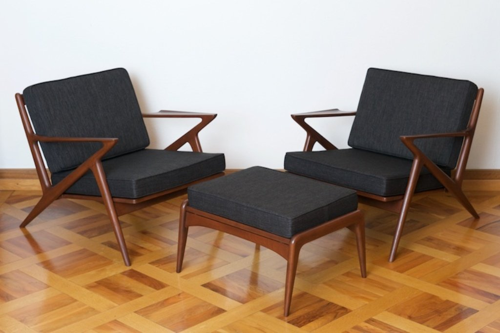 chair design bangkok shabby chic slipcovers for wingback chairs z with ottoman in teak by poul jensen haslev 1957 price per piece