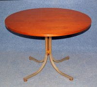 Mid-Century French Round Table with Extensions, 1960s for ...