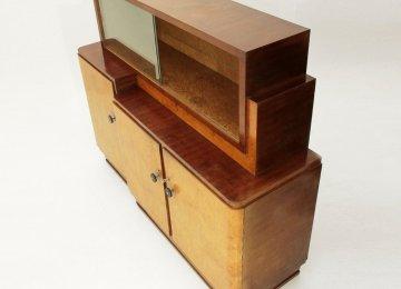Credenza Con Vetrina Stile Country : Credenza con vetrina in legno bianco classica