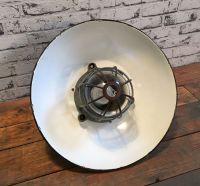 Black Enamel & Cast Iron Industrial Cage Pendant Lamp ...