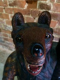Antique Carved Wooden Bears Coat Rack for sale at Pamono