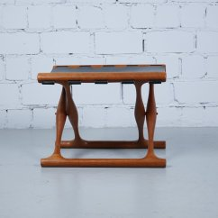 Stool Chair Ph Back Covers For Folding Chairs Vintage Teak And Leather 43 Foldable By Poul