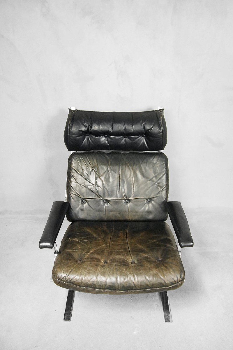 Leather Chairs With Ottoman Leather Lounge Chair Ottoman By Reinhold Adolf For Cor 1960s