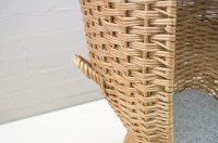 Vintage Rattan Beach Chair, 1960s for sale at Pamono