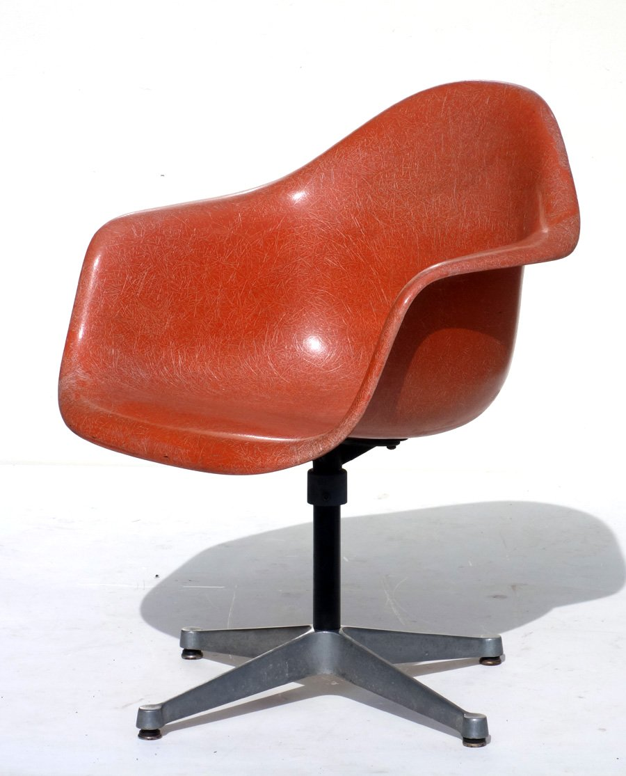 Herman Miller Shell Chair Vintage Shell Orange Chair By Charles Ray Eames For Herman Miller 1960s