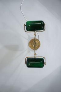 Vintage Brass & Glass Desk Lamp, 1930s for sale at Pamono