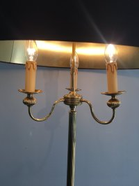 Brass Floor Lamp with 3 Arms, 1960s for sale at Pamono