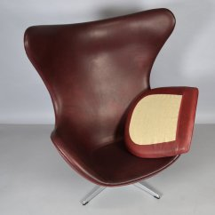 Jacobsen Egg Chair Leather Two Person Carry By Arne For Fritz Hansen 1965