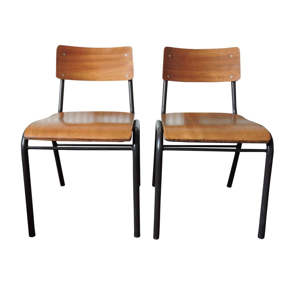 Vintage School Chairs Vintage Portuguese School Chair 1970s Set Of 2