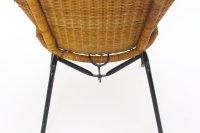 Italian Mid-Century Modern Woven Rattan Chair, 1950s for ...
