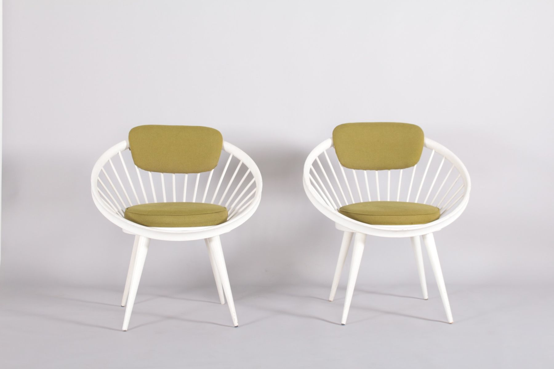 co chairs circle recovering chair cushions with piping by yngve ekström for swedese 1960s set of