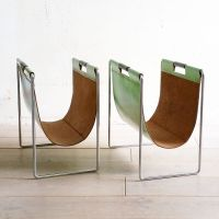 Leather Magazine Holder from Brabantia, 1970s for sale at ...