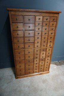 Antique English Oak Apothecary Cabinet Pamono