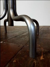 Mid-Century Leather & Steel Industrial Factory Swivel ...