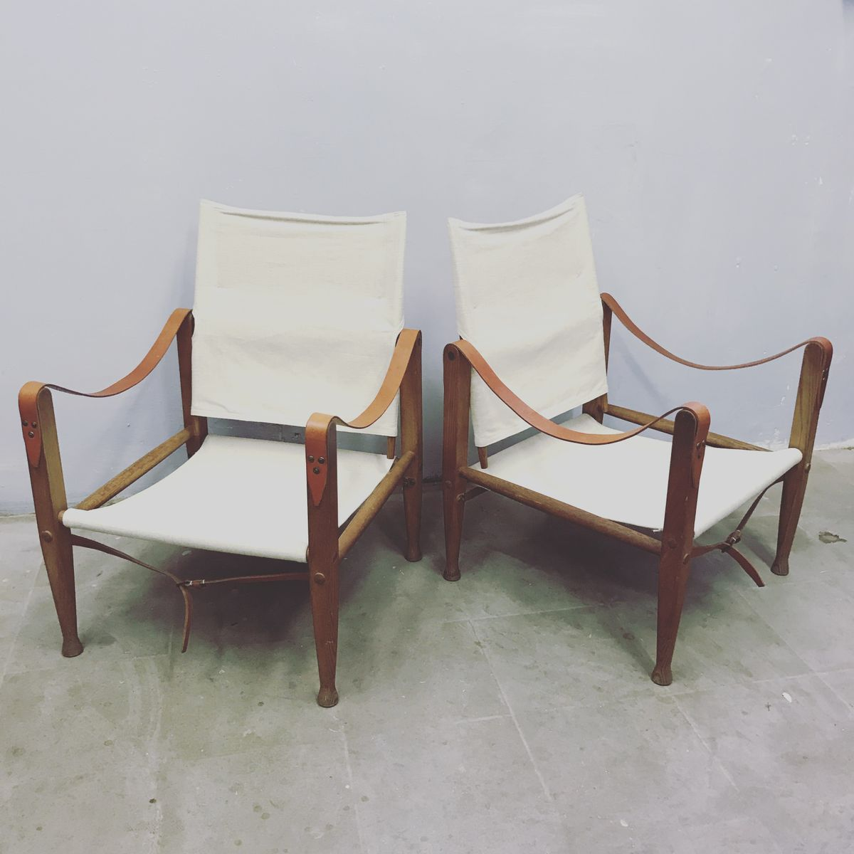 Safari Chairs Safari Chairs By Kaare Klint 1930s Set Of 2