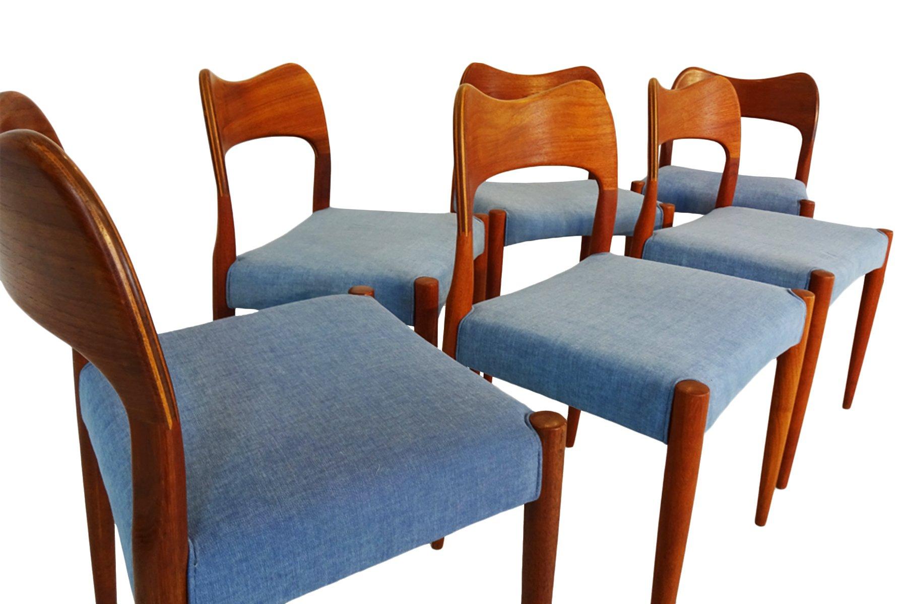 Set da pranzo MidCentury in teak di Arne Hovmand Olsen per Mogens Kold in vendita su Pamono
