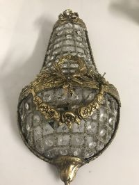 Vintage Italian Crystal Beaded Sconces, Set of 2 for sale ...
